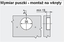 Zawias CLIP Top 110° 71B3650 Z HAMULCEM Drzwi Bliźniacze - Blum