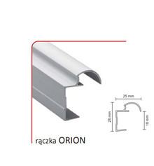 Rączka ORION 18/P (Profil) do drzwi przesuwnych wykonanych z płyty o grubości 18 mm.  UWAGA: Pierwsze zdjęcie przedstawia tylko kształt profilu ,...