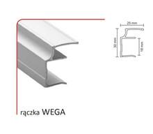 Rączka WEGA 18/P (Profil) do drzwi przesuwnych wykonanych z płyty o grubości 18 mm.  Linia Premium 75.  Profil WEGA występuje również do drzwi...
