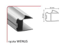 Rączka WENUS 16/P (Profil) do drzwi przesuwnych wykonanych z płyty o grubości 16 mm.  Linia Premium 75.  Profil ten umożliwia montaż lustra w...