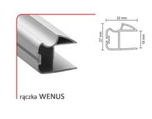 Rączka WENUS 18/P (Profil) do drzwi przesuwnych wykonanych z płyty o grubości 18 mm.  Linia Premium 75.  Rączka WENUSwystępuje...