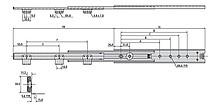 Prowadnice do szuflad Prowadnica kulkowa 3301-60 dł.70cm 60kg Wysuw+100% Kątownik Acc - Accuride