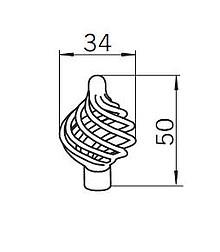 Gałka 1303 z Kolekcji Cage 34mm - Czarny Mat - Siro