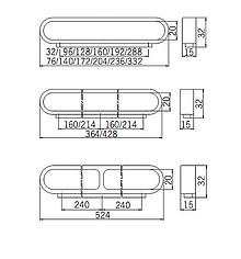 Uchwyt 1515-140 Z Kolekcji Vendo Alum. Proszkowane,Rozstaw 96mm - Siro