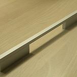 Uchwyt z kolekcji Druckguss renomowanej firmy Siro. Wykonany z metalu. Kolor pokrycia - aluminium mat. Rozstaw - 480/576mm.