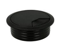 Przepust Kablowy z Plastiku ø60 Czarny  Przepust kablowy z tworzywa , z pokrywką i sprężyną. Wymiar: ø60 x 21mm