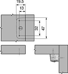 Złącze Mimośrodowe 40.2000 W Białej Obudowie Blum - Blum