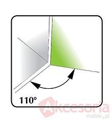 Zawias prosty 110°  Do Drzwi Nakładanych FGV Metal Nikiel - FGV