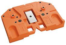 Wzornik wiertarski 65.5050 ułatwiający montaż szuflad TANDEMBOX z TIP-ON Do nawiercania pozycji mocowań pod zaczep i synchronizator. Do obróbki na...