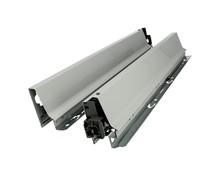 BOKI 358N Szarez zaślepkami do szuflady TANDEMBOX ANTARO  Wysokość boku: N=68 mm Do długości prowadnicy: 550 mm Regulacja wysokości: +/- 2...