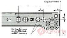 Prowadnice do szuflad Prowadnica STALOWA ROLKOWA F080 70cm 50kg 100%Wysuw Biała Wurth - Würth