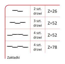 Prowadnice do drzwi Rączka SYRIUSZ 10/P Do Drzwi Przesuwnych Srebrna dł.270 cm - Aluprofil