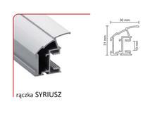 Rączka SYRIUSZ 10/P (Profil) do drzwi przesuwnych wykonanych z płyty o grubości 10 mm lub szkła grubości 4 mm ( przy użyciu uszczelki ).  Linia...