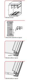 Prowadnice do drzwi Rączka SYRIUSZ 10/P Do Drzwi Przesuwnych Jasny Brąz dł.270 cm - Aluprofil