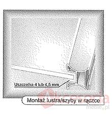 Prowadnice do drzwi Uszczelka 18-N 4mm Do Rączek  18/P Aluprofil Niesymetryczna - Aluprofil