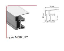 Rączka MERKURY 10/P (Profil) do drzwi przesuwnych wykonanych z płyty o grubości 10 mm lub szkła grubości 4 mm ( przy użyciu uszczelki ).  Linia...