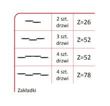 Prowadnice do drzwi Rączka Merkury 10/P Do Drzwi Przesuwnych Srebrny dł.270 cm - Aluprofil