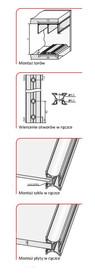 Prowadnice do drzwi Rączka URAN 10/P Do Drzwi Przesuwnych Jasny Brąz dł.270 cm - Aluprofil