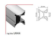 Rączka URAN 10/P (Profil) do drzwi przesuwnych wykonanych z płyty o grubości 10 mm lub szkła grubości 4 mm ( przy użyciu uszczelki ).  Linia Premium...