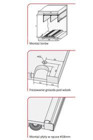 Prowadnice do drzwi Rączka ORION Do Drzwi Przesuwnych Srebrna dł. 270 cm - Aluprofil