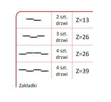 Rączka PLUTON 18/P Do Drzwi Przesuwnych Srebrna dł. 270 cm - Aluprofil