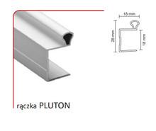 Rączka PLUTON 18/P (Profil) do drzwi przesuwnych wykonanych z płyty o grubości 18 mm.  Linia Premium 75.  KolorSrebrny. Długość 270 cm....