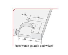Prowadnice do drzwi Rączka WEGA 16/P Do Drzwi Przesuwnych Jasny Brąz dł. 270 cm - Aluprofil