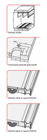 Prowadnice do drzwi Rączka NEPTUN 18/P Do Drzwi Przesuwnych Srebrna dł.270 cm - Aluprofil