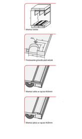 Prowadnice do drzwi Rączka JOWISZ 16/P Do Drzwi Przesuwnych Jasny Brąz dł. 270 cm - Aluprofil