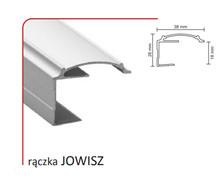 Rączka JOWISZ 18/P (Profil) do drzwi przesuwnych wykonanych z płyty o grubości 18 mm.  Linia Premium 75.  UWAGA: Pierwsze zdjęcie przedstawia tylko...