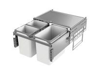 Kosze do sortowania odpadów EKO Liner Pojemność 2x10L + 1x16L Do korpusu o szerokości 50cm  Do korpusu o głębokości wewnętrznej 464 mm Wysokość...