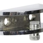 Uchwyt półki półokrągły średni mały - Kolor Chrom REJ-I TD01.0319.01.001  Wymiary wspornika: - szerokość 48mm - głębokość 21mm. Do...