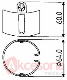 Element kanału kablowego
