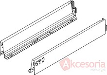 Szuflady Tandembox ANTARO Wys.D=M+1Reling Głęb.35cm 30kg SZARA Hamulec - Blum