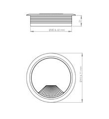 Przepust kablowy Przepust Kablowy z Plastiku fi 60 Biały - Siso