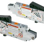 Siłowniki 20S2G00.05 z białymi zaślepkami 20S8000 i podnośnikami 20S3500.05 to elementy systemu AVENTOS HS. Zestaw siłownika do AVENTOS...