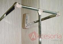 Pantograf drewnopodobny jasny stal szerokość 83-115cm - Valcomp