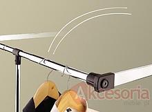 Wyposażenie szaf Pantograf stalowy czarny szerokość 60-83cm - Valcomp
