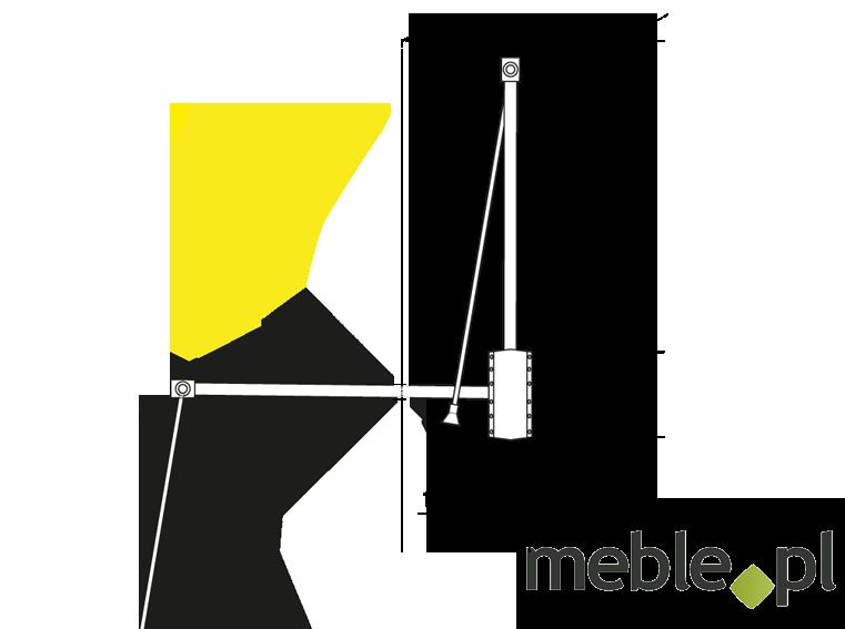 Pantograf Stalowy Srebrny Szerokość 60 83cm
