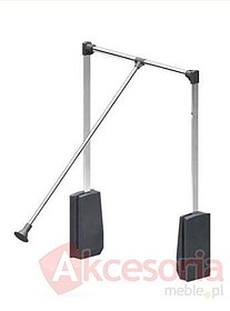 Pantograf aluminiowy czarny. Umożliwia wygodne zawieszanie oraz zdejmowanie ubrań. Zapewnia optymalne wykorzystanie górnej części garderoby. Długość...