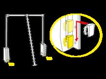 Pantograf aluminiowy czarny szerokość 60-83cm - Valcomp