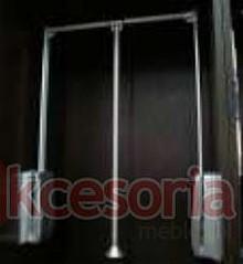 Wyposażenie szaf Pantograf aluminiowy srebrny szerokość 60-83cm - Valcomp