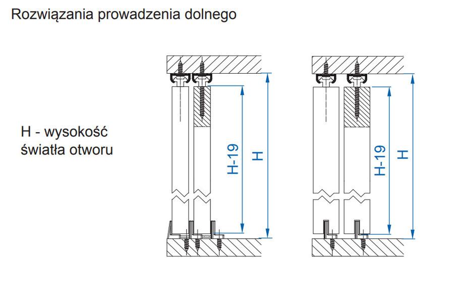 Apis Zestaw Ap08 Do 2 Szt Drzwi Przesuwanych Dl 80cm 9kg