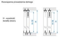 APIS Zestaw AP08 Do 2 szt. Drzwi Przesuwanych dł.80cm 9kg - Valcomp