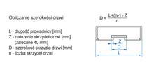 APIS Zestaw AP12 Do 2 szt. Drzwi Przesuwanych dł.120cm 9 kg - Valcomp