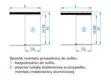 Prowadnice do drzwi Zestaw HERKULES HS60 Do 1szt. Drzwi Przejściowych dł.180 cm 60kg - Valcomp