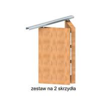 System do drzwi składanych w szafach, wnękach oraz do drzwi przejściowych.  Ciężar drzwi do 14kg. Grubość drzwi min. 18-35mm. Długość prowadnicy...