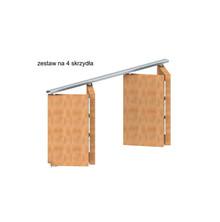 System do drzwi składanych w szafach, zabudowach wnęk oraz do drzwi przejściowych. Ciężar drzwi do 14kg. Grubość drzwi min. 18-35mm. Długość...