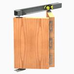 System do drzwi składanych w szafach, zabudowach wnęk oraz do drzwi przejściowych.  Ciężar drzwi do 25 kg. Grubość drzwi 16-40 mm Długość...