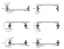 Prowadnice do dużych obciążeń Prowadnica Kulkowa DZ7957-0034 100%wysuw dł.863,6mm Udźwig 160kg - Accuride